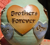 brothers forever in hearts multi dog urn