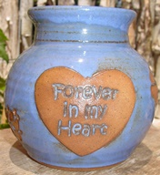 forever in my heart in kristin font pet urn