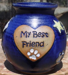 My Best Friend inscribed in heart badge